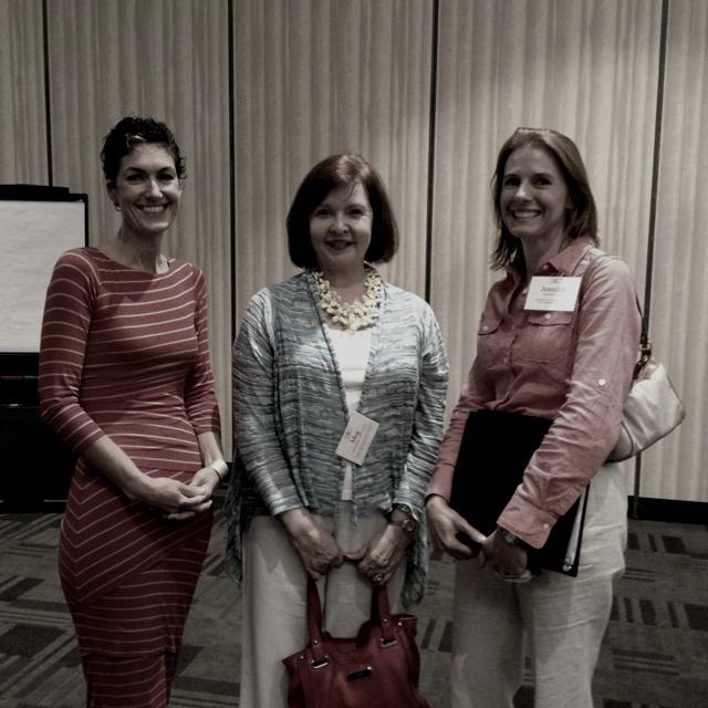 Futurist Nancy Giordana, sharing with Jennifer Clark, Meg Calderon- Porter at Leadership America
