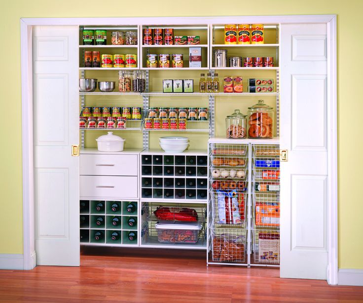 Image of kitchen design with large walk in pantry joy for Best pantry shelving system