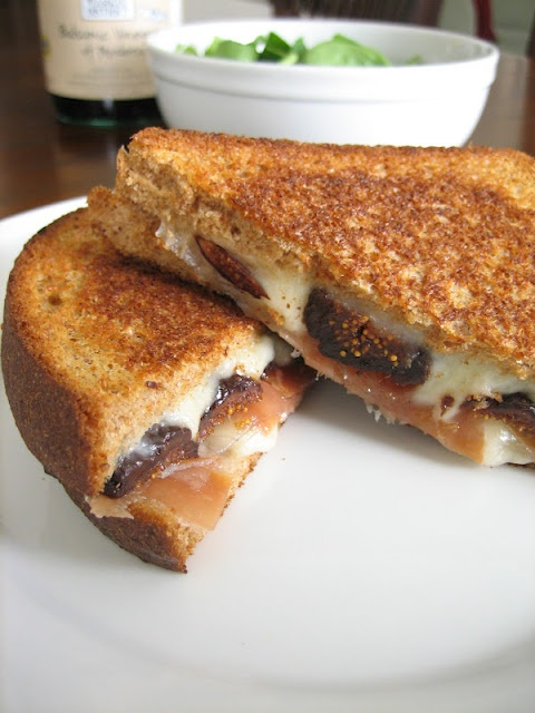 fig, prosciutto, and mozzarella grilled sandwich! perfectly sweet ...