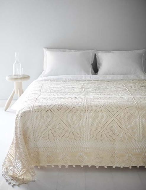 Crochet Bedspread : crochet bedspread Crochet blankets & pillows Pinterest