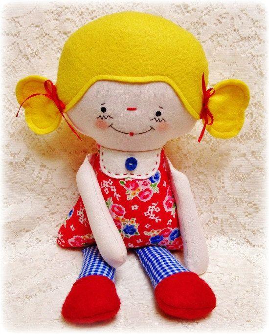 Кукла шаблон Мягкая Кукла шаблон Плюшевые Кукла шаблон по OhSewDollin, $ 10.00