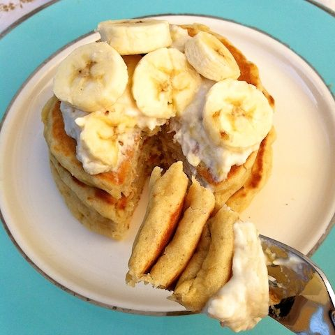 Roasted Bananas Foster Pancakes- for shortcut use Heart Healthy ...