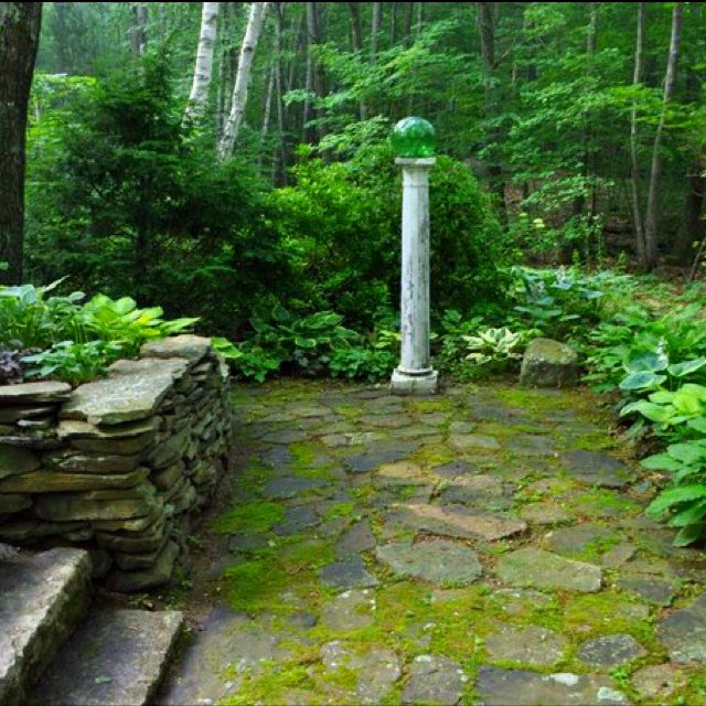 Forest Backyard Ideas : Love the stone patio  backyard  Pinterest