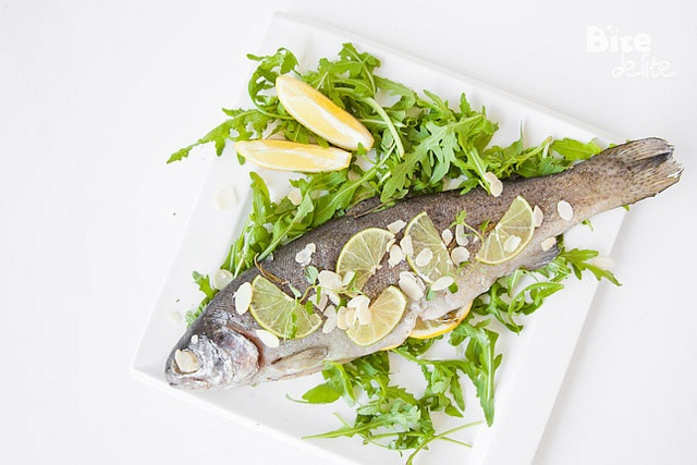 Oven Roasted Trout with Thyme, Lemon & Almonds
