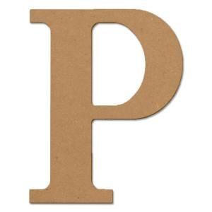 P Alphabet Design Design Craft MIllworks 8 in. MDF Classic Wood Letter (P)-47375 at The ...