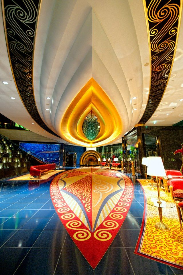 Burj al arab lobby places i d like to go pinterest for Dubai hotel interior design