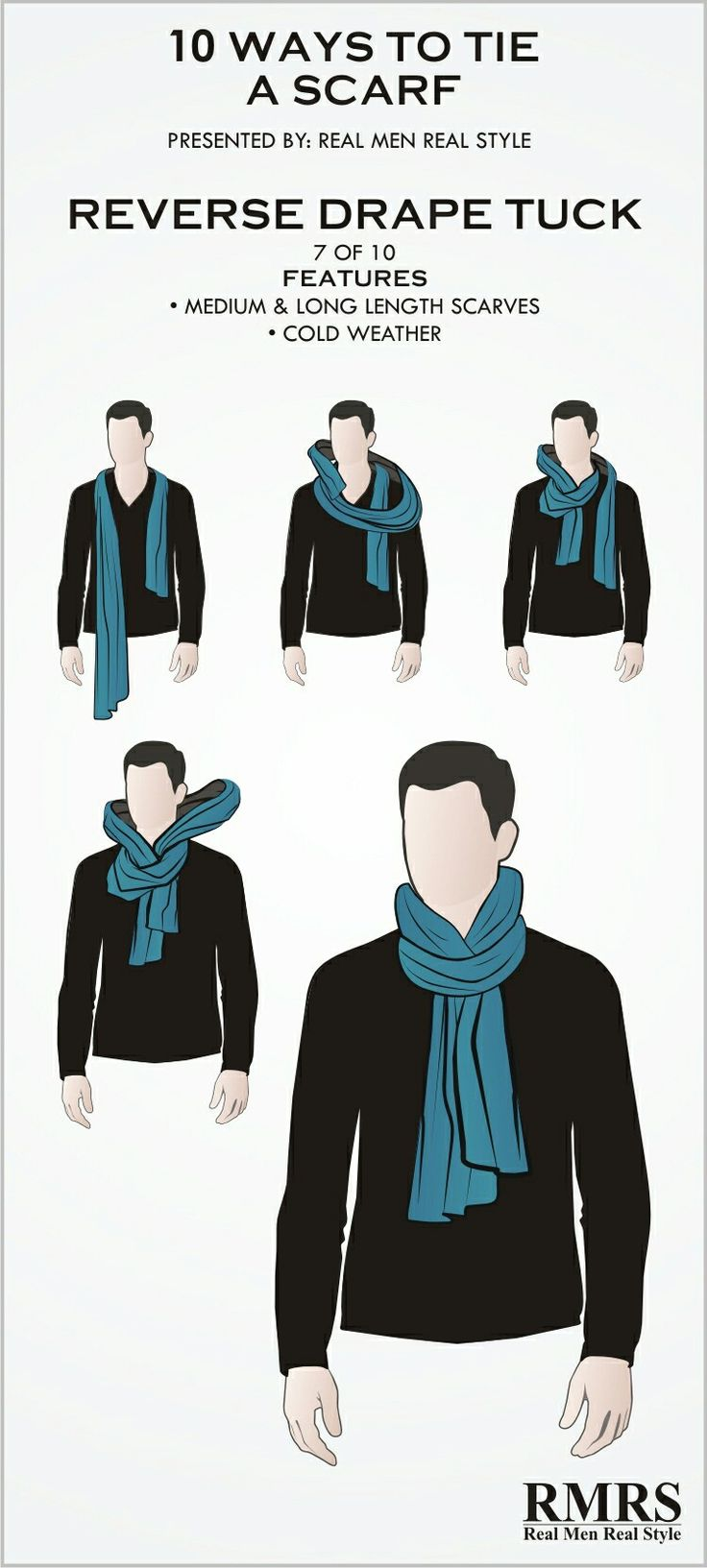 How to tie a scarf men fashion 44