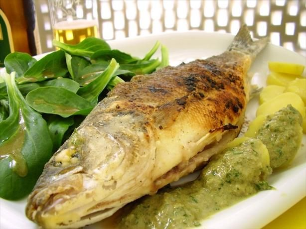 Roasted Sea Bass With Caper Sauce | Recipe