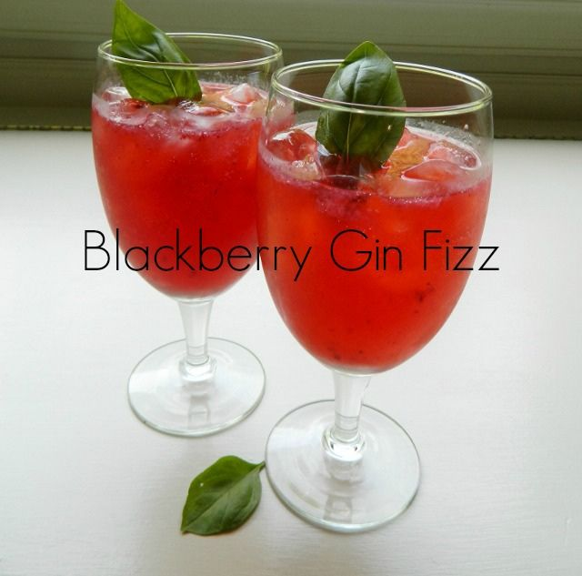 Good Eats - Blackberry Gin Fizz