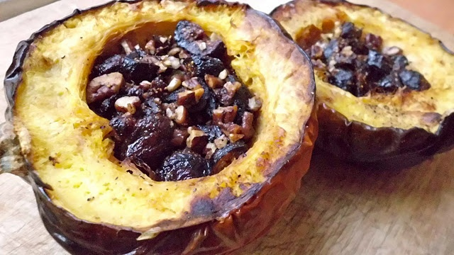 Fig and pecan-stuffed acorn squash | Favorite Recipes | Pinterest