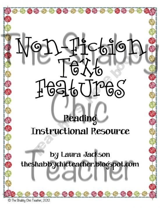 non fiction text features unit freebie
