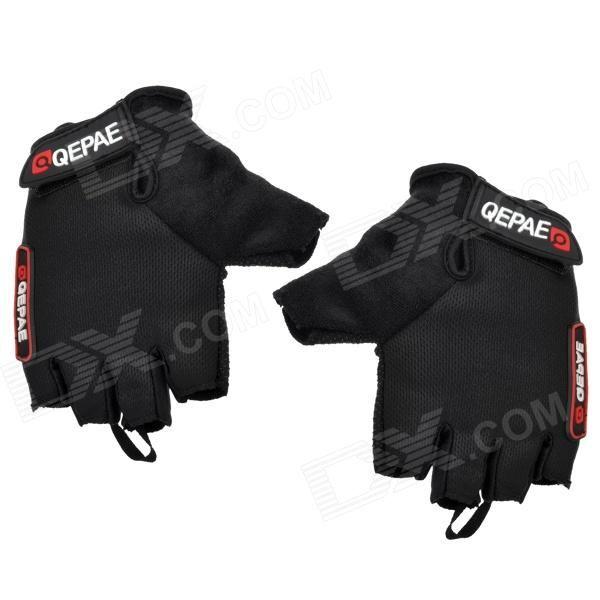 QEPAE F035 Cycling Anti-slip Cotton Mesh Fabric Half-finger Gloves ...