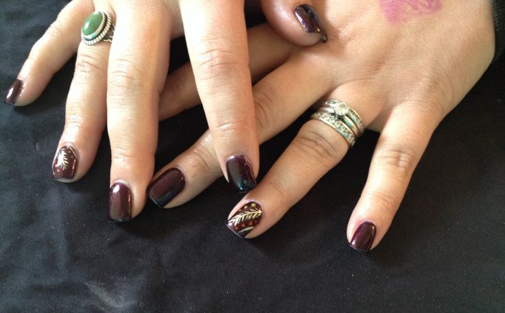 Gel color fall nails | Nails | Pinterest