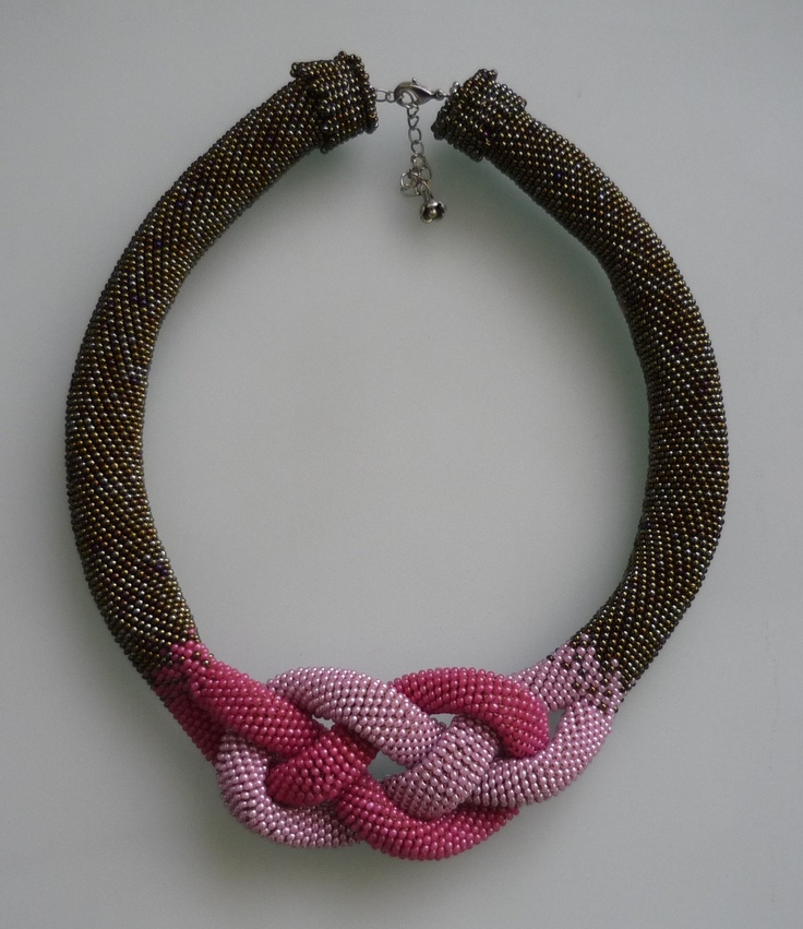 Beaded Crochet : Beaded Necklace - Beaded Crochet Necklace - Crochet Bead Necklace ...