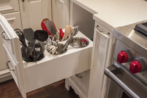 Built-in storage—cut down on countertop clutter