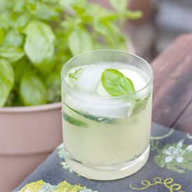 Sparkling Cucumber Basil Limeade...try it with Tequila or Gin and a ...