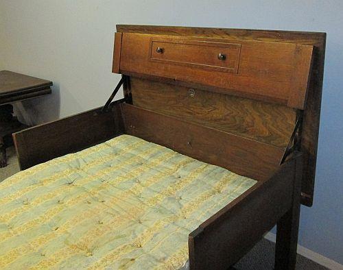 Unique Antique Mission Oak Ta Bed Chicago Table Bed Novelty Furniture