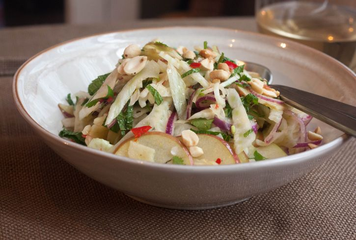 fennel apple amp herb salad with chili amp peanuts notes add spinach ...