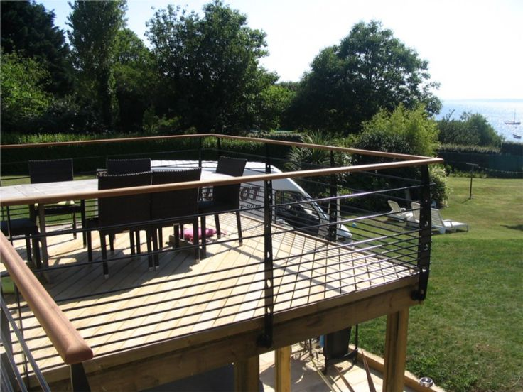 Garde corps terrasse ext rieure id es extension maison pinterest - Idee garde corps terrasse ...