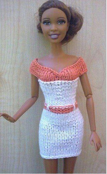 Вязание спицами для начинающих на кукол барби 31