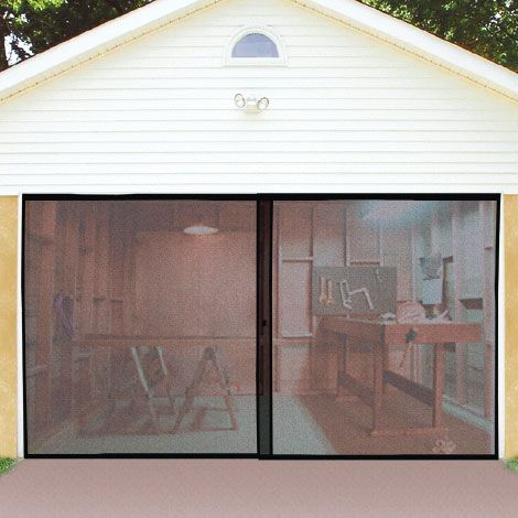Double garage door screen for Double door screen door