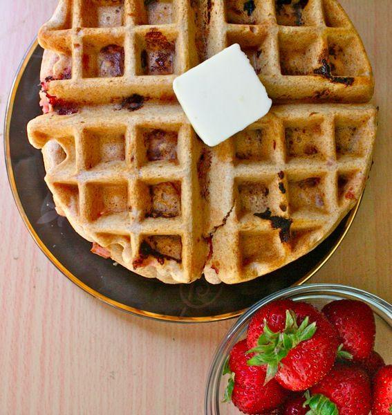 100% whole wheat strawberry waffles | Good Eats & Yummy Treats | Pint ...