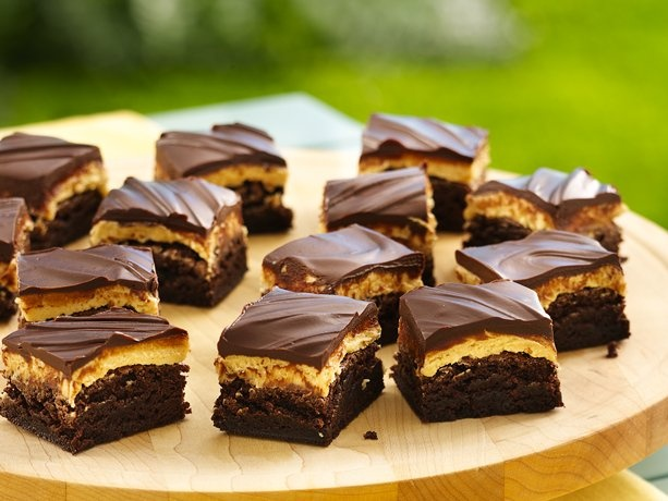 ... these. You'll thank me: Traditional Peanut Butter Truffle Brownies