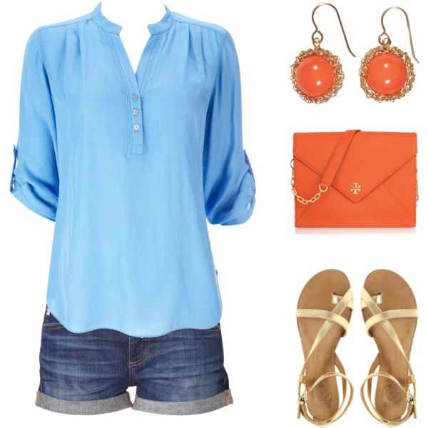Baby Blue and Orange, created by stephaniemd7