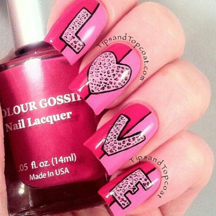 valentine nails instagram