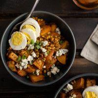 Barley, Smoked Paprika Red Potatoes, and Hard Boiled Egg | Naturally Ella