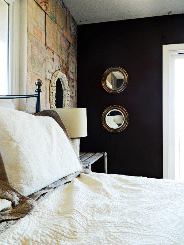 Dark moody bedroom paint color idea home heart craft for Dark paint in bedroom