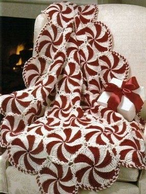 FREE PATTERN for Peppermint Candy Afghan!.