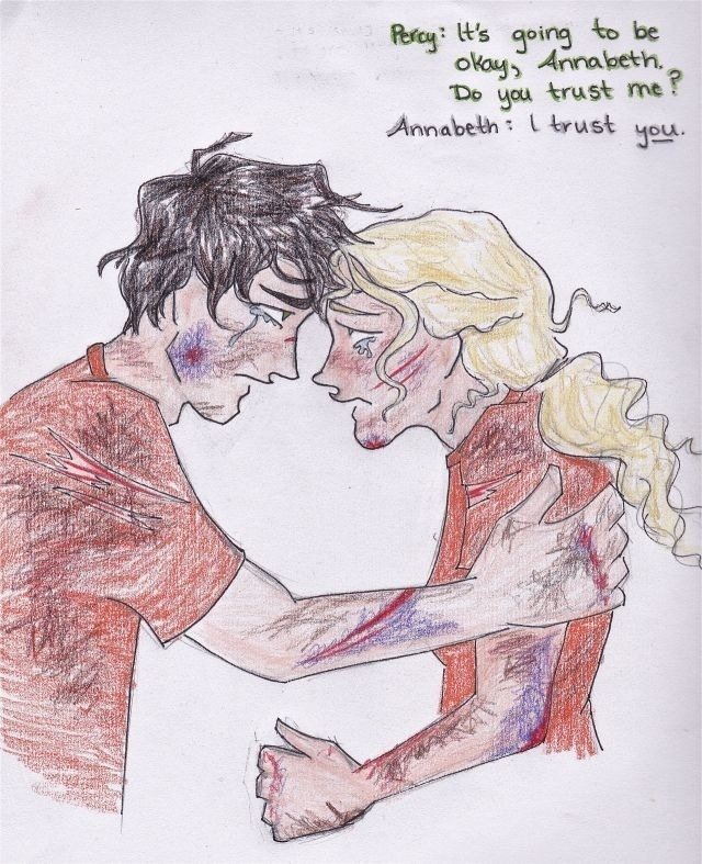 Percabeth | Percy Jackson | Pinterest Percy And Annabeth Fall Into Tartarus