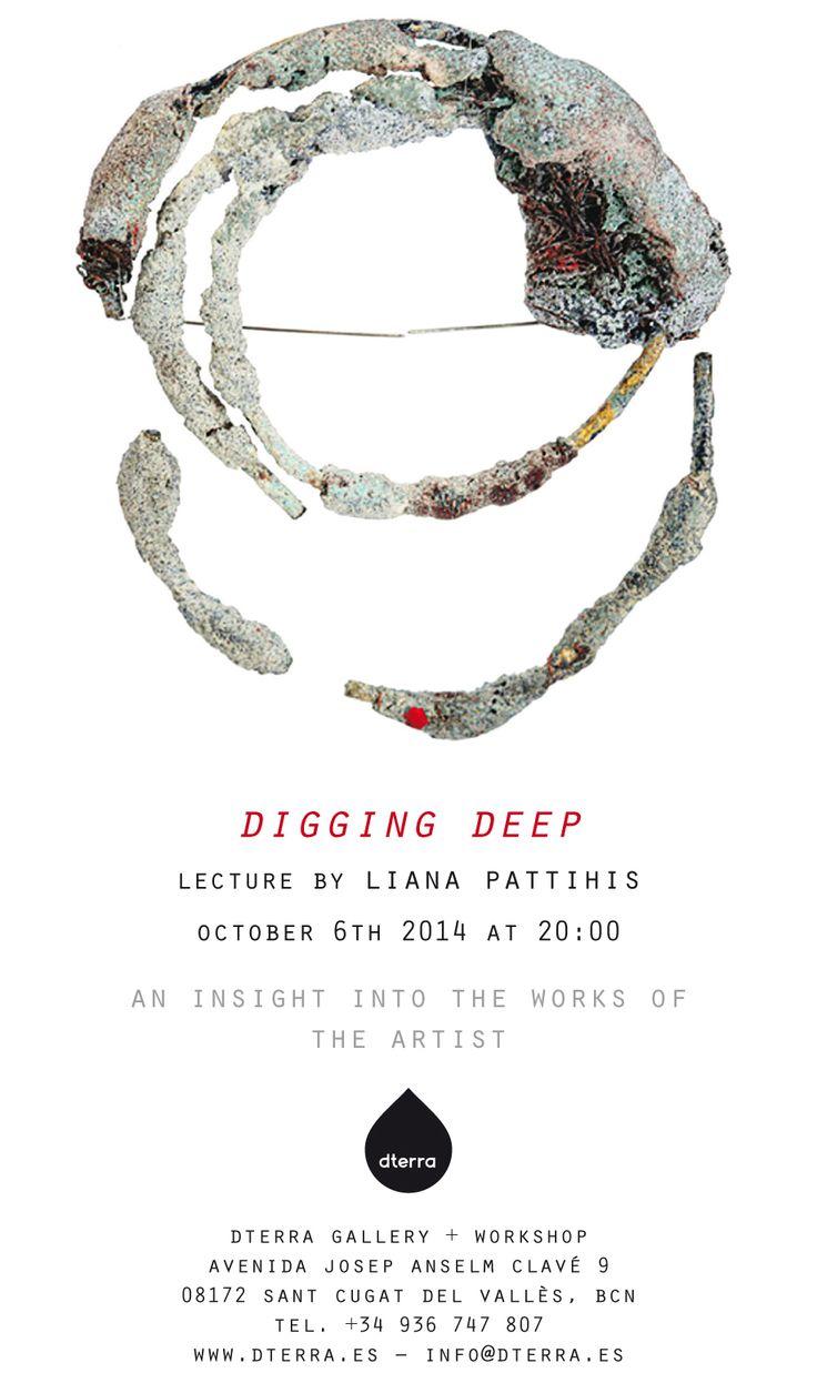 dterra lecture LIANA PATTIHIS - DTERRA GALERIA Digging Deep - Liana Pattihis Lecture 6 Oct. - 20:00