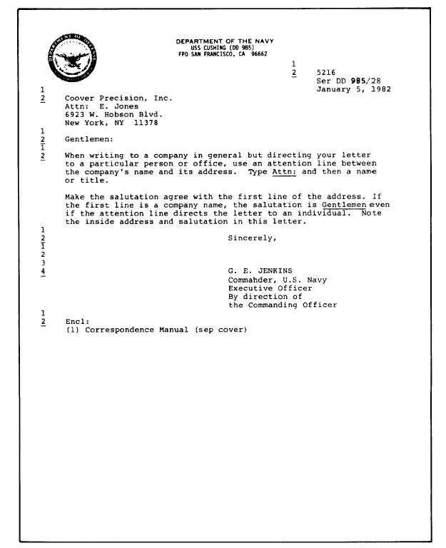 Business Letter Format Attention Line