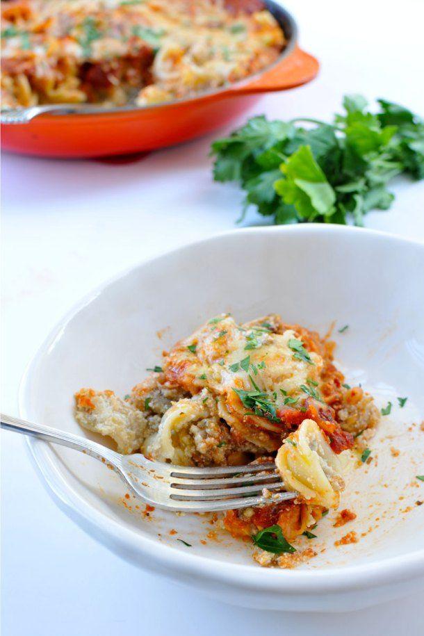 Eggplant-Ricotta Pasta Bake | Supper | Pinterest