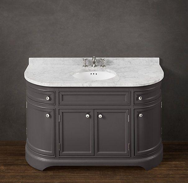 Od?on Extra-Wide Single Vanity Sink Vanity Base: 58