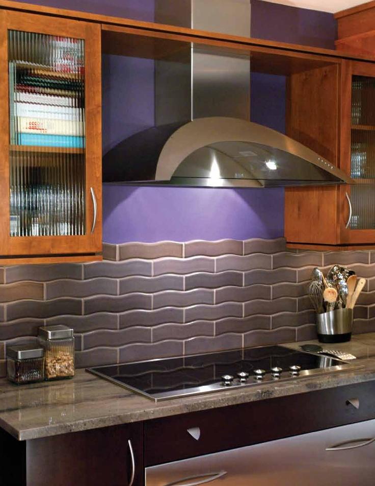 purple kitchen w tile home decorating pinterest