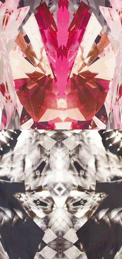 Alexander McQueen digital print.