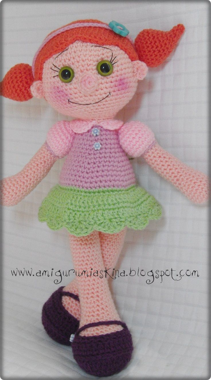 Free Amigurumi Doll Patterns In English : Pin by justina arriero on labores de aguja Pinterest