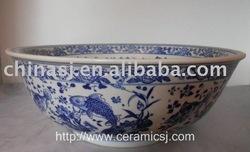Blue And White Vessel Sink : Blue & White Porcelain Vessel Sink Island Style Pinterest