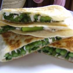 Asparagus and Goat Cheese Quesadillas | Sandwiches | Pinterest