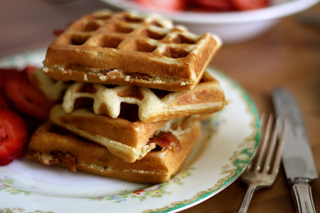 Brown Sugar Bacon Waffles. Substitute melted butter for canola oil ...