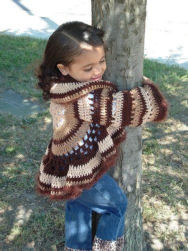 Free Crochet Pattern Little Girl Sweater : Adorable Little Girls Crochet Sweater! Style for Kids ...