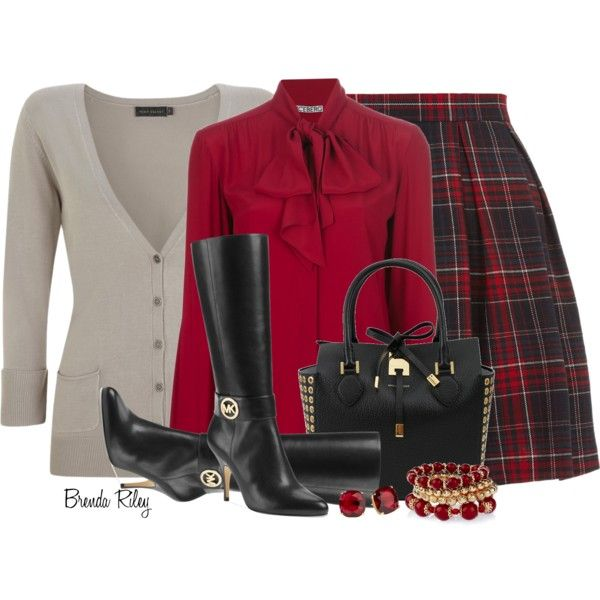 """ICEBERG Red Bow Blouse"" by brendariley-1 on Polyvore"