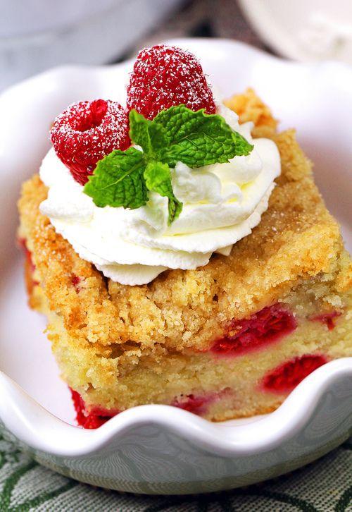 Raspberry Crumb Cake | Desserts | Pinterest