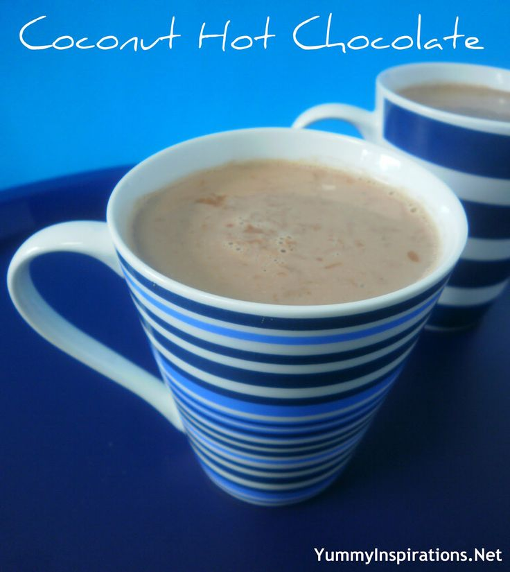 Coconut Hot Chocolate | hot chocolate and cocoa | Pinterest