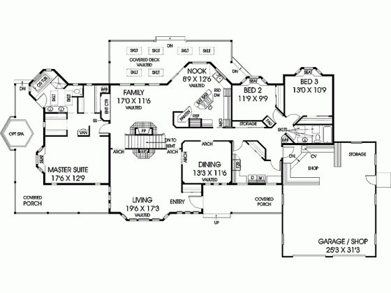 1 story plan with basement home exteriors plans One story house plans with basement