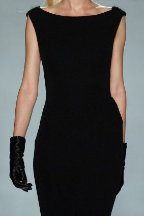 perfect little black dress. and oh how i wish we still wore gloves!