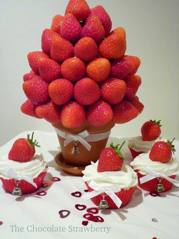 Strawberry Bouquet Frutas Pinterest